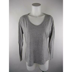 Hanes Cotton Polyester Heather V-Neck T-Shirt Top